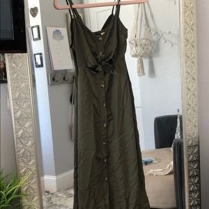 Mimi Chica Green Sundress with Buttons